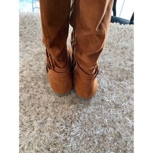 Simply Styled Shoes - CCO Simply Styled Faux Suede Brown Boots 10 Wide